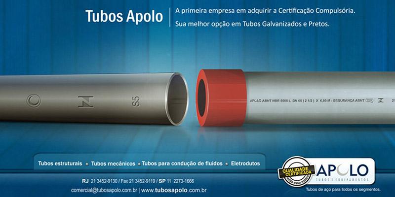 Campanha Promocional Informativa Qualidade Certificada Apolo – Desenvolvimento de Conceito Visual e Campanha Promocional para os Tubos Galvanizados Apolo