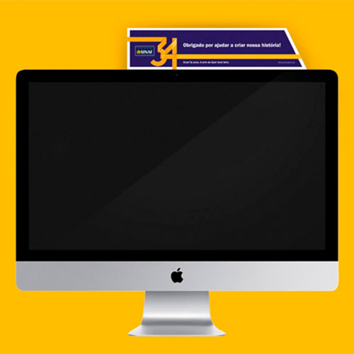 SINAF 34 anos – Desenvolvimento de Conceito Visual e Campanha de Endomarketing