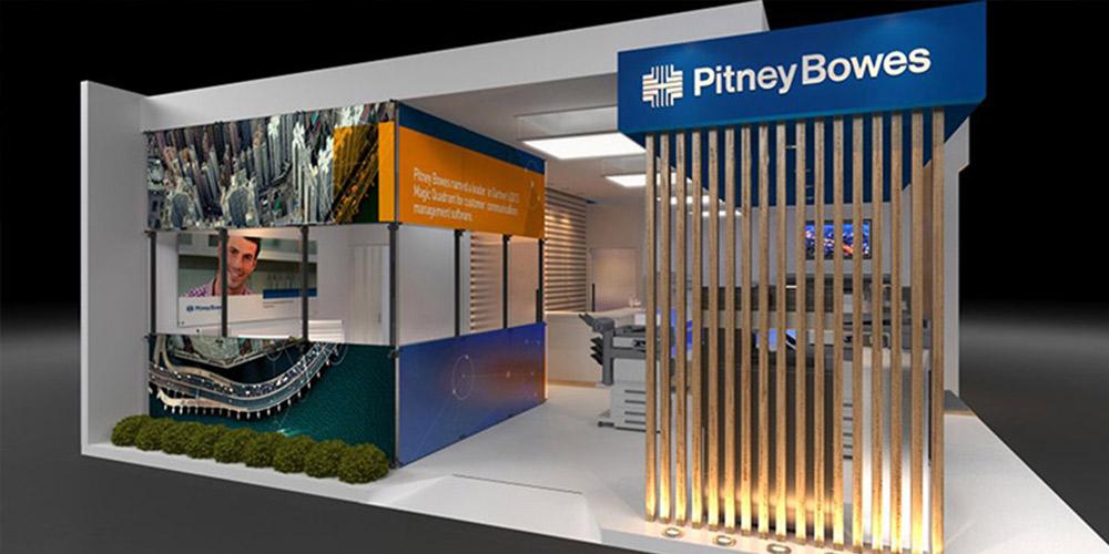 Conceito Visual Stand Pitney BowesPara a Feira Expoprint – SP – Desenvolvimento de Projeto/ Conceito Visual